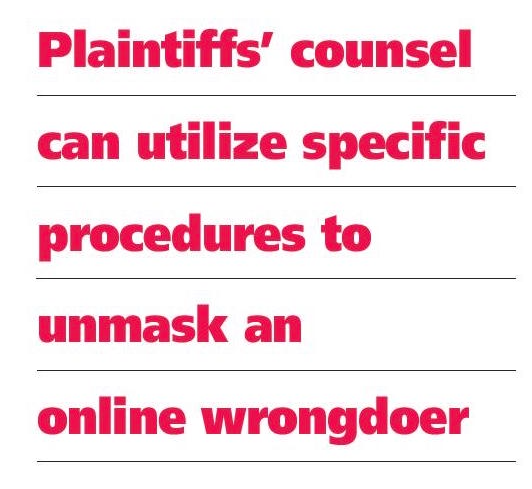 Suing Anonymous Defendants for Internet Defamation